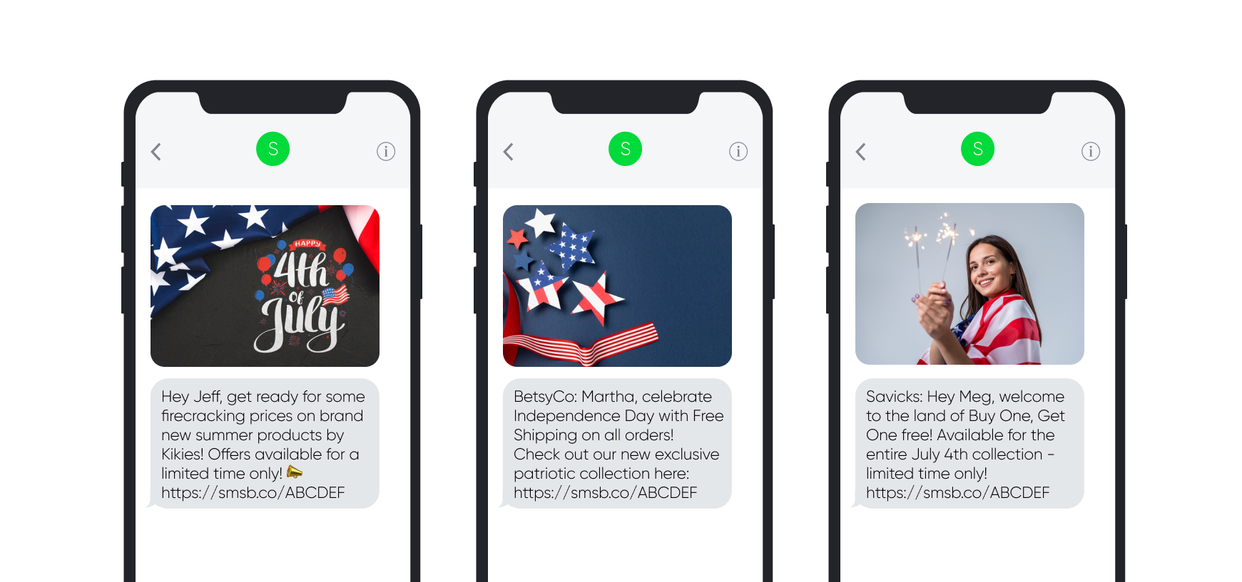 4th of July SMS Templates