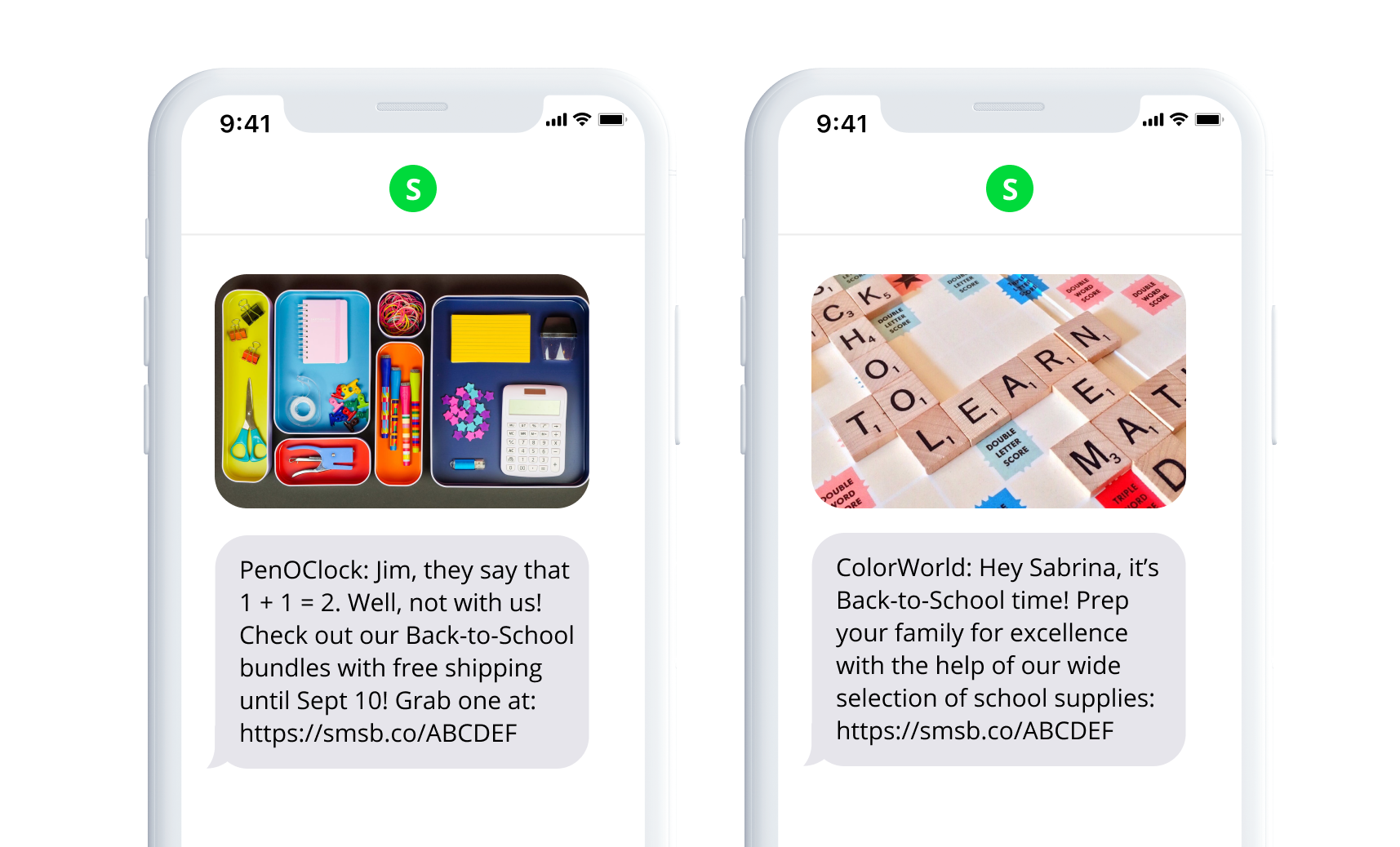 Back-to-School SMS Templates