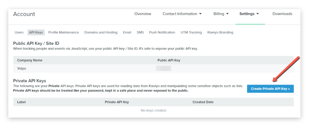 Klaviyo SMSBump integration