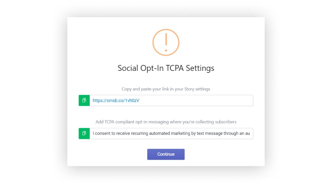 Social Opt-in
