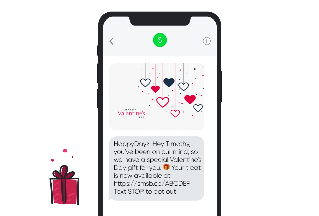 Valentine's Day SMS Template